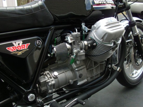 1973 Moto Guzzi V7 Sport R Side Engine Detail