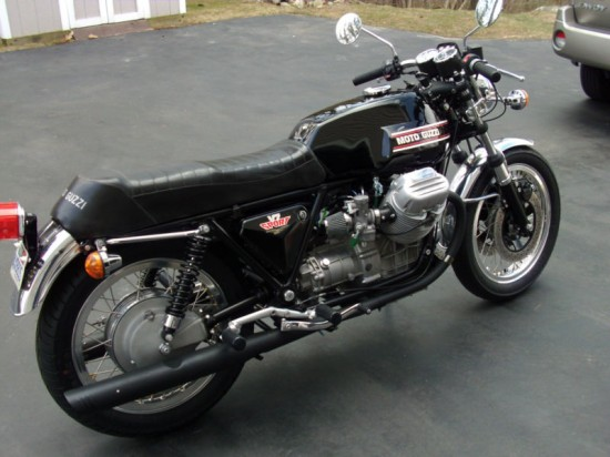 1973 Moto Guzzi V7 Sport R Side Rear