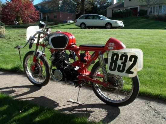 1966 CB160 Race Bike L Side Rear
