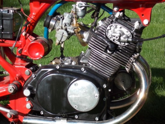 1966 CB160 Race Bike R Engine Detail