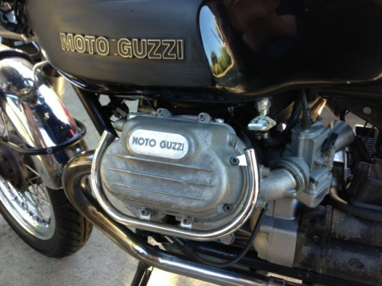 1975 Moto Guzzi T Cafe Engine Close
