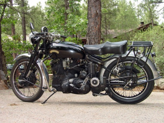 1950 Vincent Black Shadow L Side
