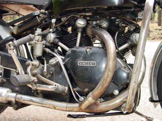 1950 Vincent Black Shadow R Engine