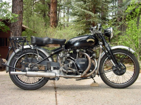 1950 Vincent Black Shadow R Side