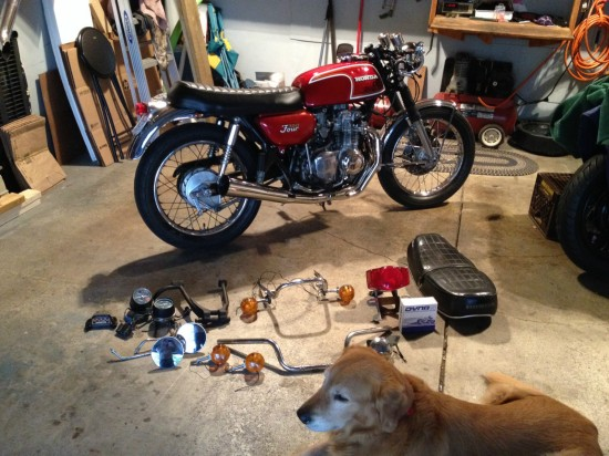 1972 Honda CB350 R Rear Parts