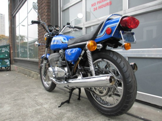 1972 Kawasaki H2 750 L Rear Full
