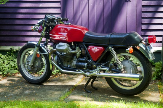 1973 Moto Guzzi V7 Sport Red L Side
