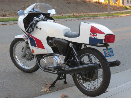 1974 Norton JPN L Rear