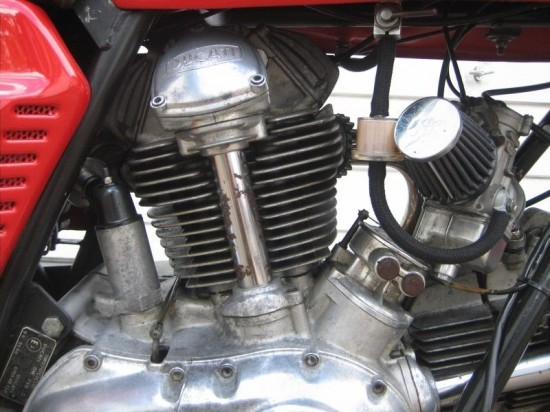 1975 Ducati 750 GT Red Engine Detail