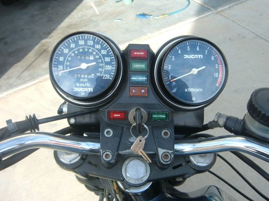 1982 Ducati Darmah Clocks