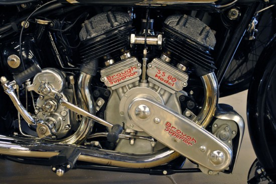 1936 Brough Superior SS80 R Side Engine