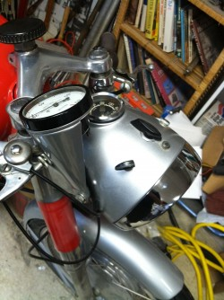1967 Ducati Diana 250 Dash Side