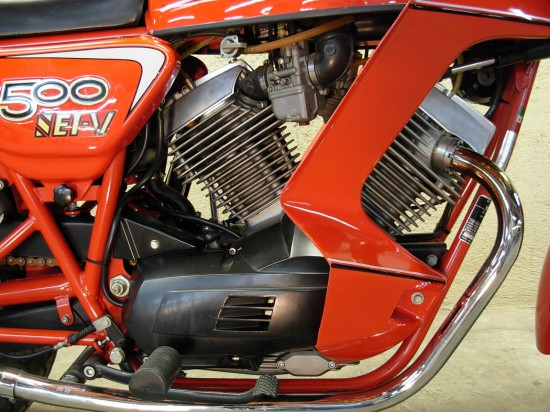 1983 Moto Morini 500 R Engine Detail