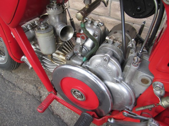 1956 Moto Guzzi Airone Sport L Side Engine
