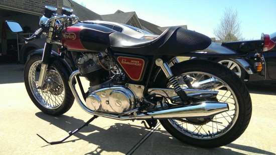 1974 Norton Commando L Rear