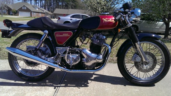 1974 Norton Commando R Side