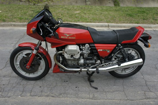 1984 Moto Guzzi LeMans III Red L Side