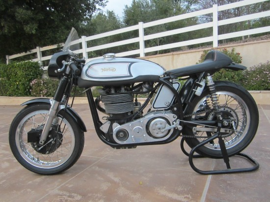 1962 Norton Manx L Side