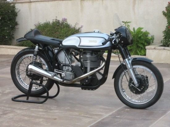1962 Norton Manx R Side