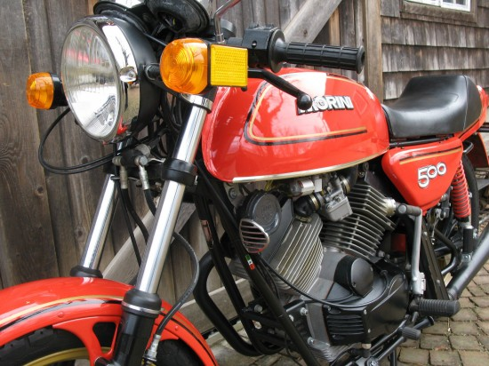 1980 Moto Morini 500 Sport L Front Close