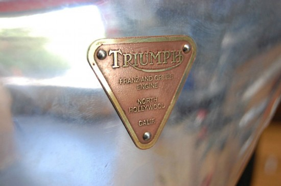 1955 Triumph Salt Flats Racer Badge