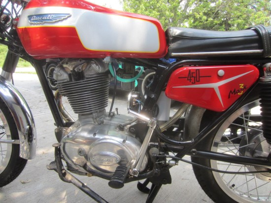 1970 Ducati 450 Mark 3 L Side Detail