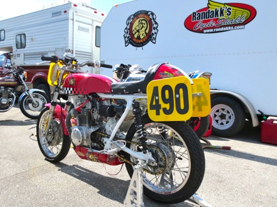 1972 Honda CL350 Race Bike L Rear