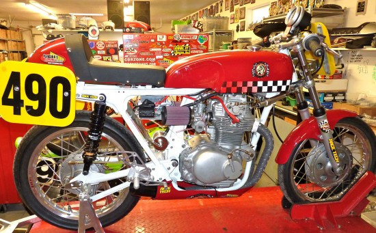 1972 Honda CL350 Race Bike R Side