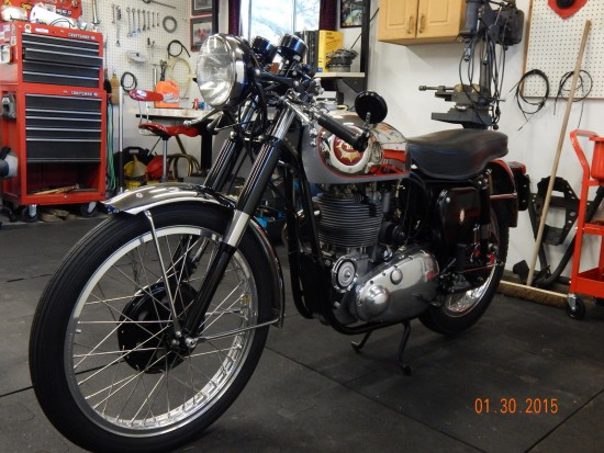 1954 BSA Gold Star L Front