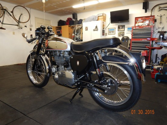1954 BSA Gold Star L Rear