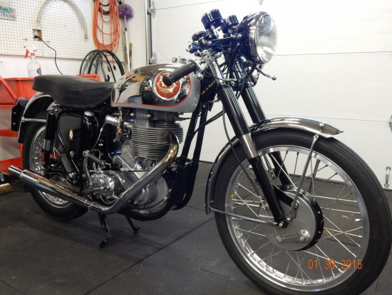 1954 BSA Gold Star R Front