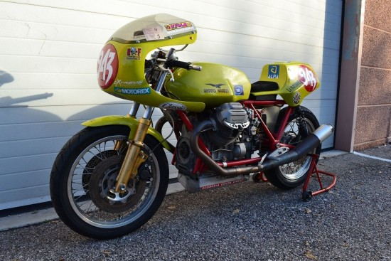 1973 Moto Guzzi V7 Race Bike L Side Front