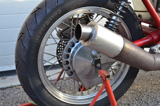 1973 Moto Guzzi V7 Race Bike Rear Wheel