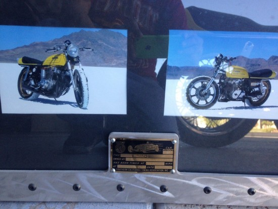 1976 Honda CB750 Salt Flat Plaque