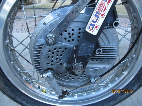 1982 Moto Morini 250 Race Bike Front Drum
