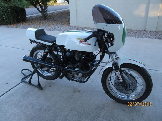1982 Moto Morini 250 Race Bike L Side