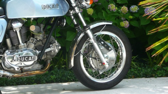 1973 Ducati 750GT Cafe R Side Detail