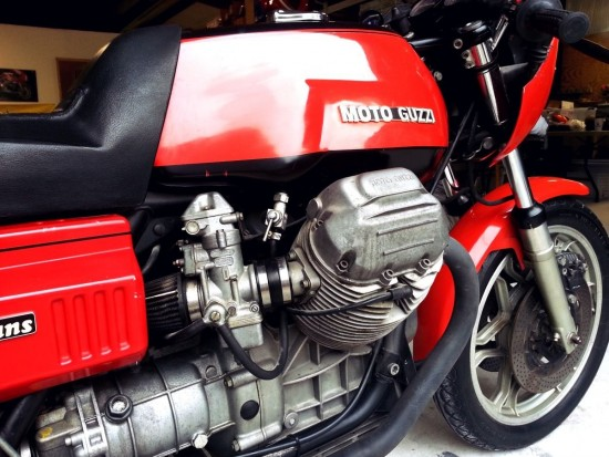 1977 Moto Guzzi LeMans R Side Engine