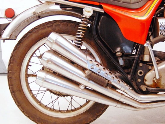 1973 Triumph X75 R Side Exhaust Detail