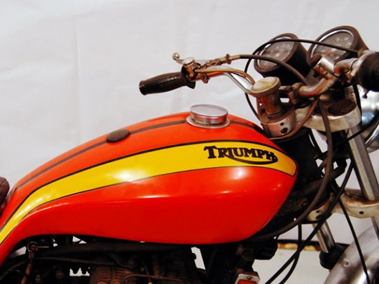 1973 Triumph X75 R Side Tank Detail