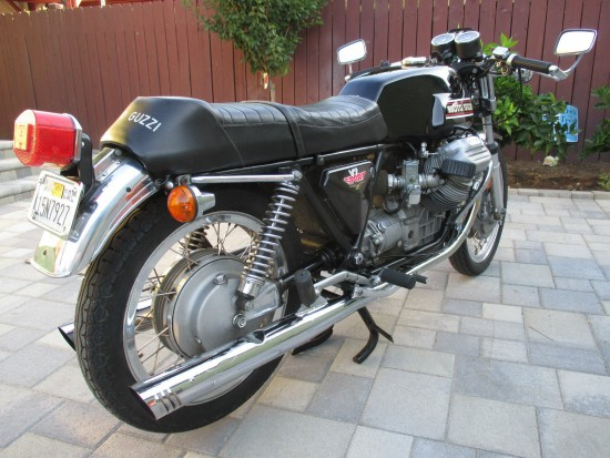 1974 Moto Guzzi V7 Sport R Side Rear