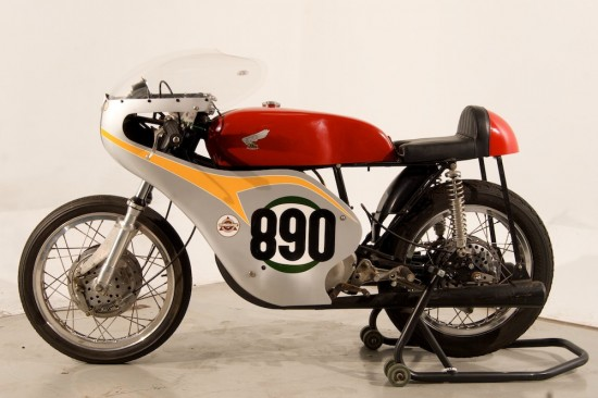 1963 Honda 250 Race Bike L Side