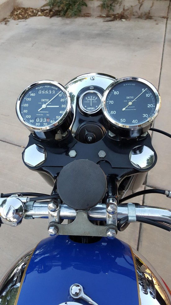 1960 BSA Gold Star Clocks