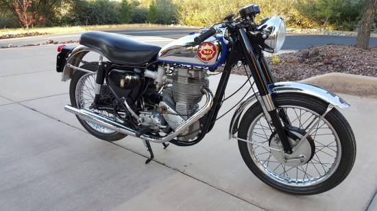 1960 BSA Gold Star R Front