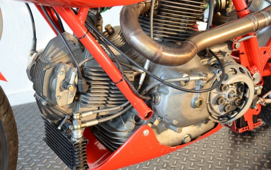 1978 Ducati 900SS Racer L Side Engine Detail