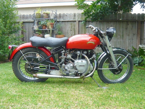 1951 Vincent Rapide R Side