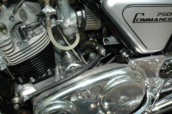 1974 Norton Commando L Side Engine