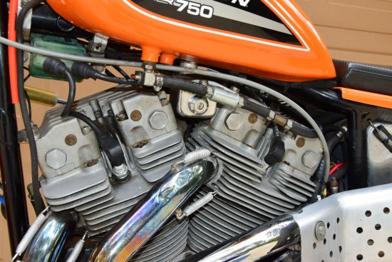1972 Harley Davidson XR750 L Side Engine